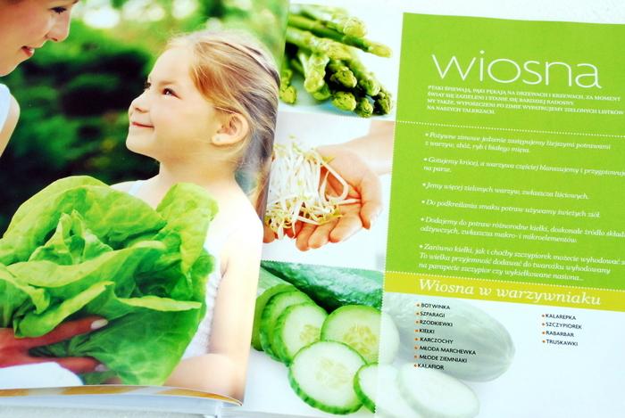 Początek rodziału, informacje o sezonowych warzywach i owocach