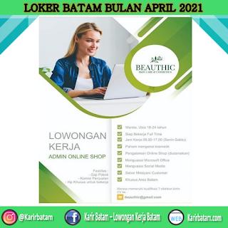 Lowongan Kerja Beauthic Skin Care and Cosmetic