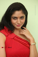 Actress Zahida Sam Latest Stills in Red Long Dress at Badragiri Movie Opening .COM 0091.JPG