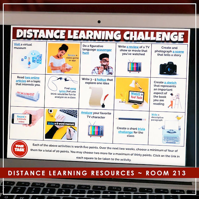 Choice Boards for Distance Learning