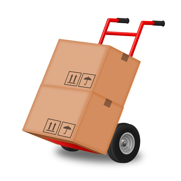 boxes-and-dolly Pixabay image for Self-Storage How to Solve Your Clutter Problems