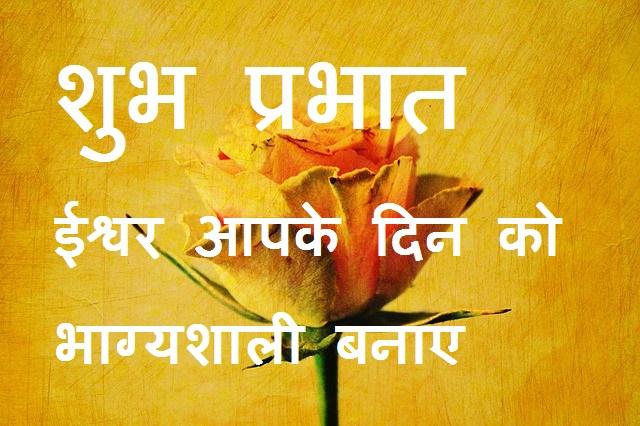 शुभ प्रभात ईश्वर आपके दिन को भाग्यशाली बनाए yellow rose image