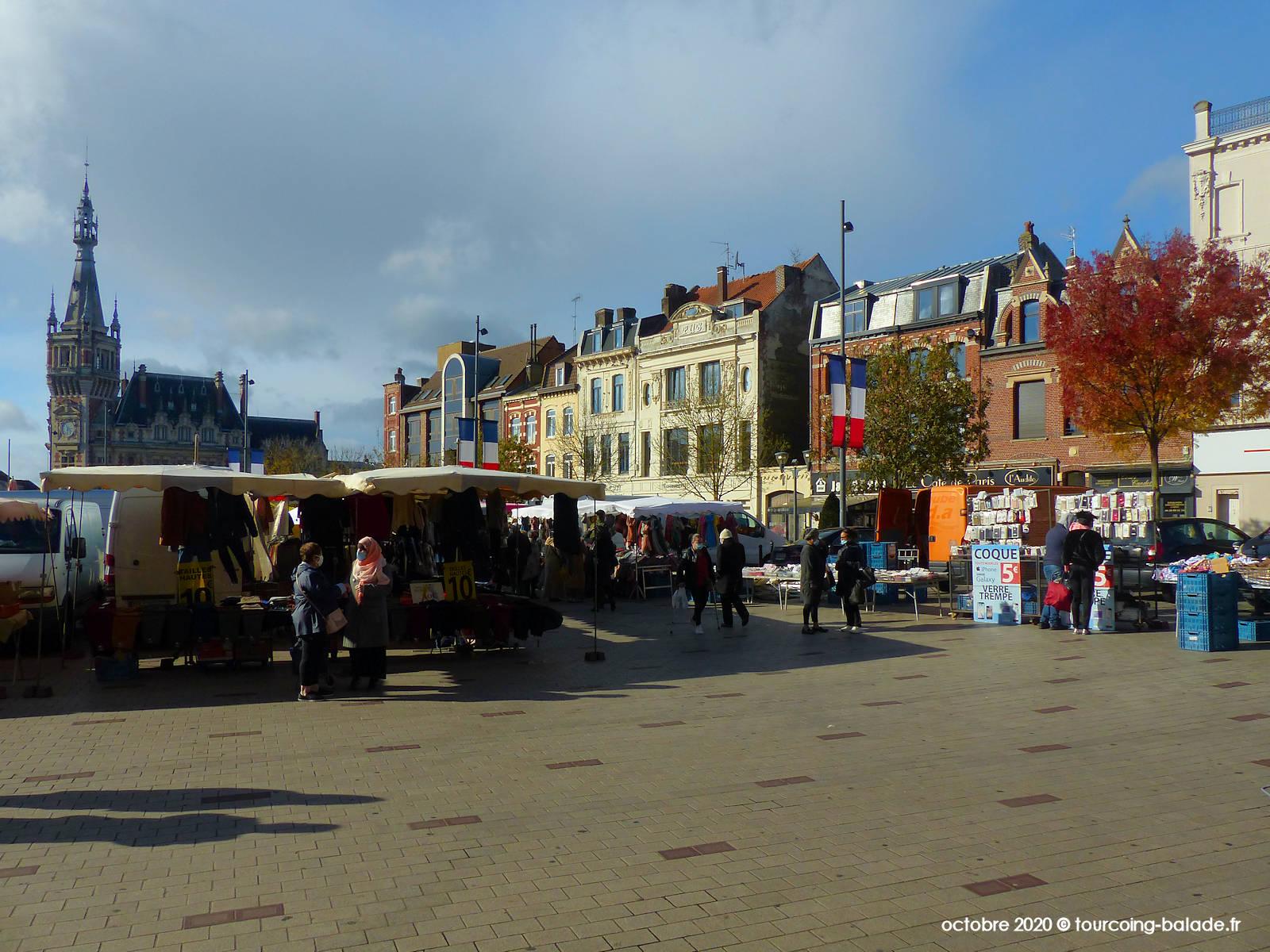 Marché Centre Ville Tourcoing, place de la république 2020