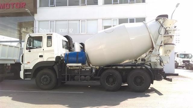 Xe trộn bê tông Hyundai Nhập khẩu