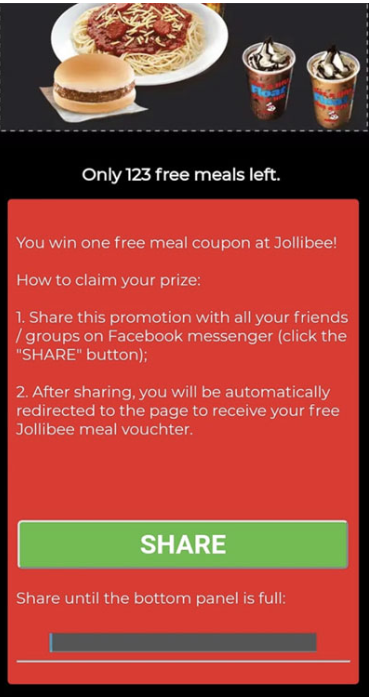 Jollibee Promotion Scam - The Products Blog