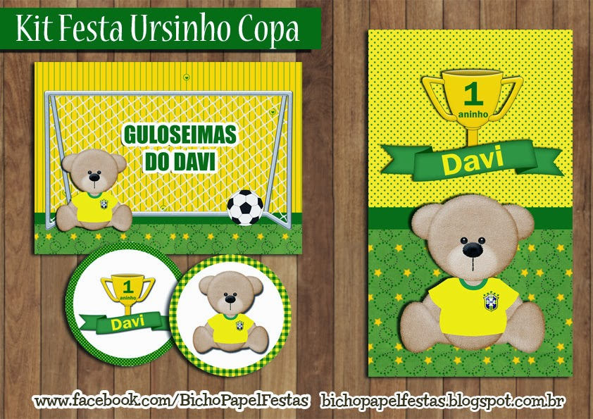 Kit Festa Ursinho Copa