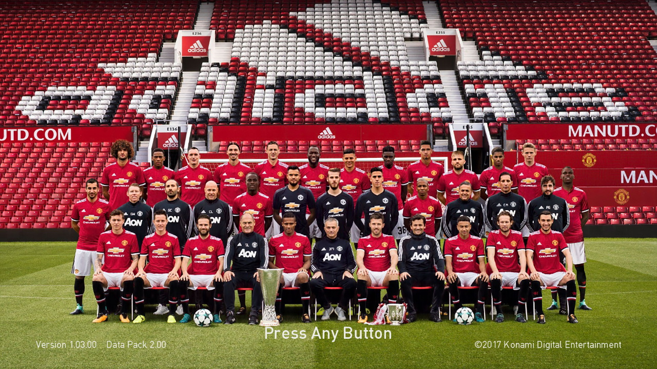 PES 2018 Manchester United Team Photo 17/18 Startscreen by ABW