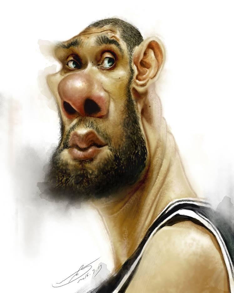 Tim Duncan por Rivorio Mok