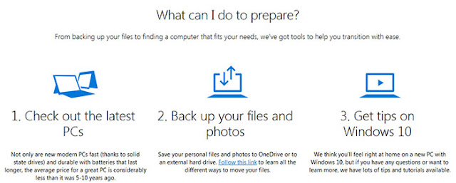 After end of security support for Windows 7 what should you do: eAskme