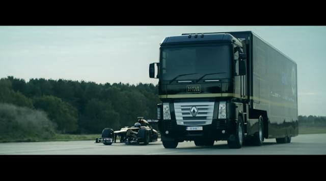 Acrobacia que desafía a la Muerte: camión salta un F1