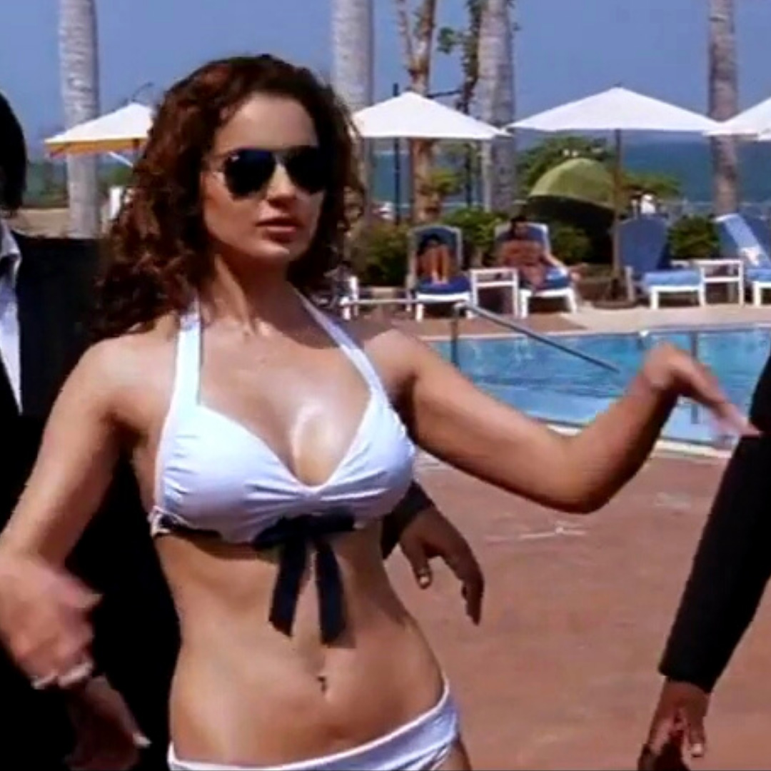 kangana ranaut in a sexy white two piece bikini