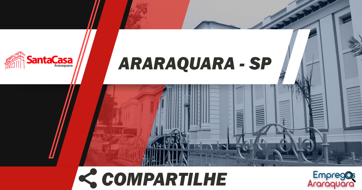 Auxiliar de farmácia hospitalar / Araraquara - SP / Cód. 3504