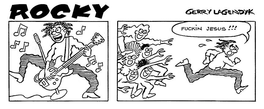 rock star cartoon