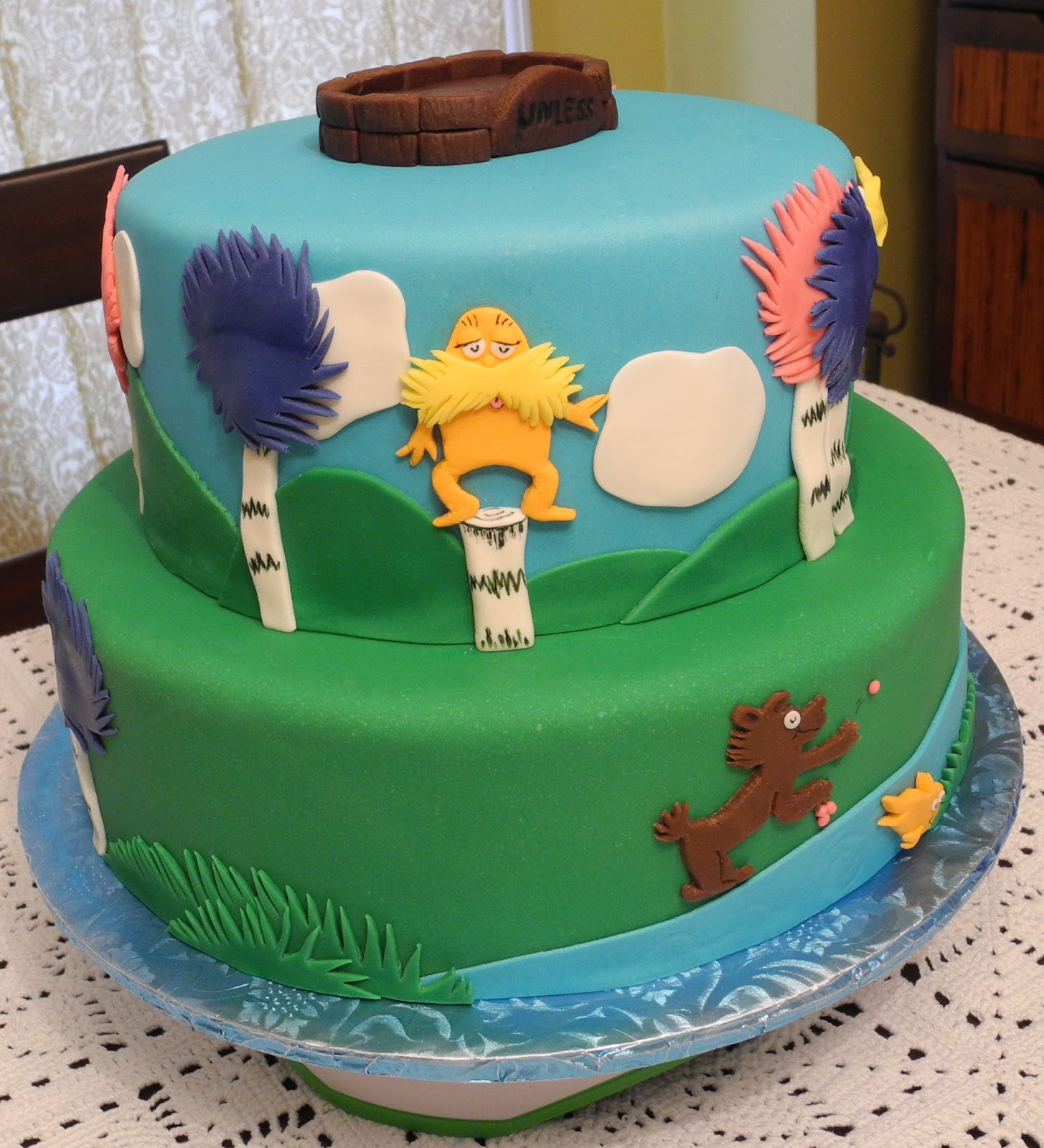 Debby S Cakes My Daughter S Lorax Themed Cake And Party