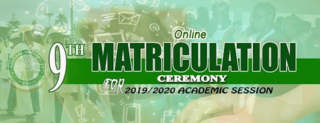 Fuoye Set To Conduct 2019/2020 Matriculation Exercise Online