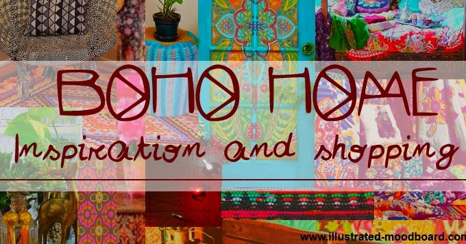 Illustrated Moodboard: Boho Home Inspiration And Shopping