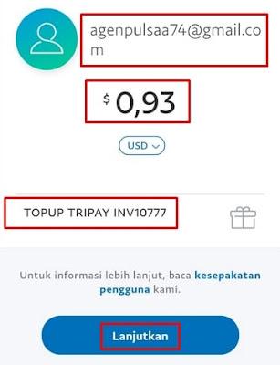 Kirim Dollar Paypal