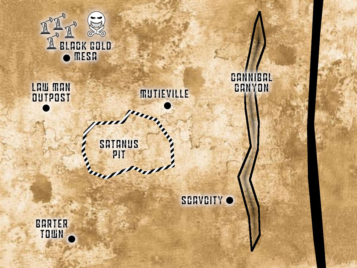 Map of the Cursed Earth