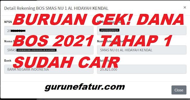 Cek Dana BOS Tahun 2021