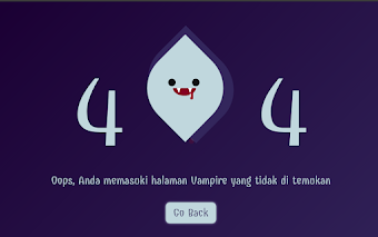 Html Vampire 404 Page