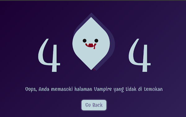 Html Vampire 404 Page