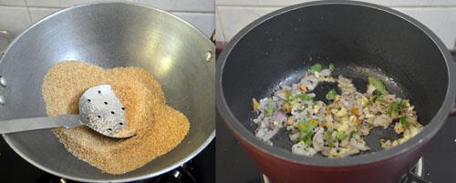 roasting dalia