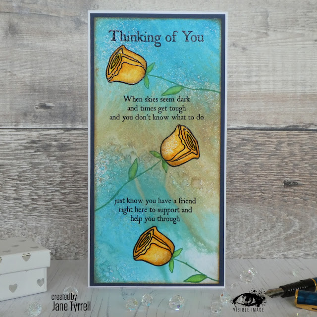 thinking of you | verse | stamp | handmade | card making