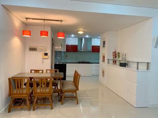 nhà bếp căn hộ 2 phòng ngủ sky garden 3 phú mỹ hưng