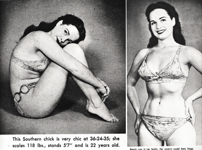 bettie-page-first-modelling-work