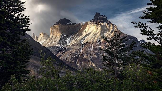 Montanhas Distantes Paisagem Natural