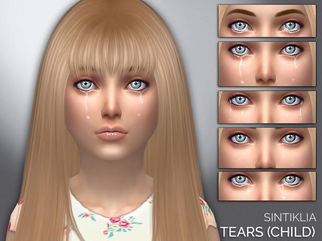 Слезы для персонажей The Sims 4 со ссылками на скачивание