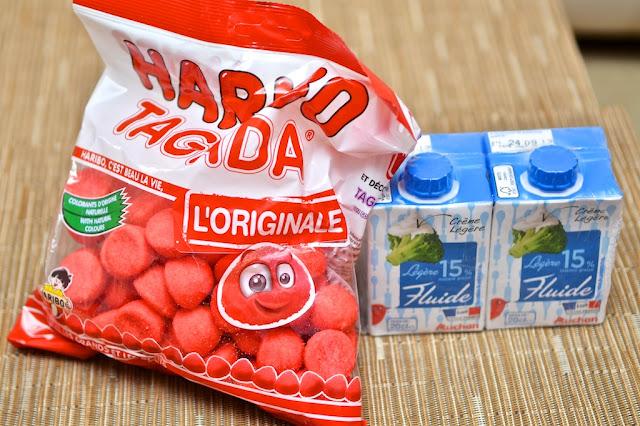 Fraise Tagada - Crème Fraise Tagada - Crème dessert - Haribo Tagada - Dessert - cuisine - food - strawberry - bonbon fraise