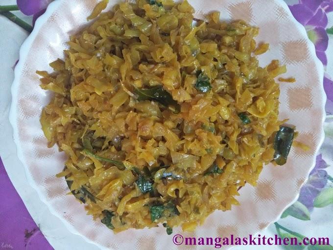 Spicy Cabbage Curry | Kara Cabbage Poriyal