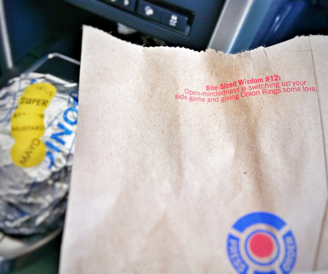 sonic wisdom - Open-mindedness is switching up your side game and giving Onion Rings some love.