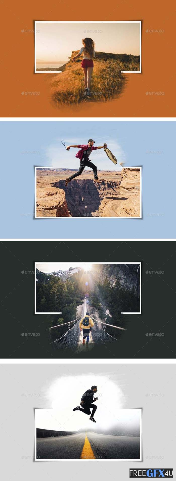 Popout Photo PSD Template
