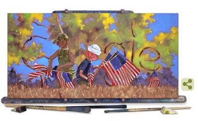 Doodle de Google para el Veterans Day 2019