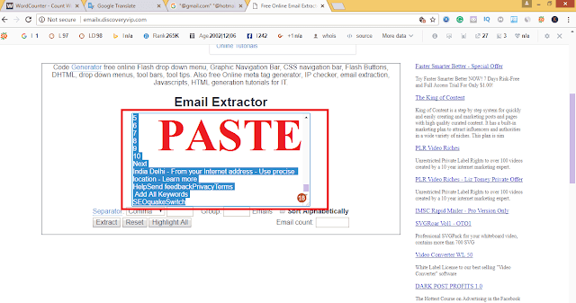 how to make email list fast