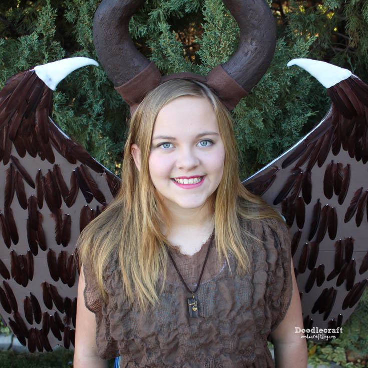 Make the perfect Disney inspired costume cosplay of Maleficent as a child from the Live-Action Maleficent Movie. This angel of darkness didn't always have a dark side, the wings, horn and fairy-like attributes are simple to DIY.