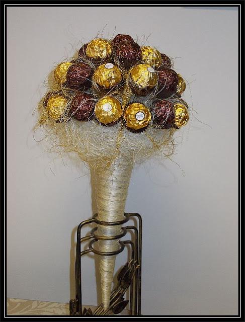 bukiet z cukierków Ferrero Rocher