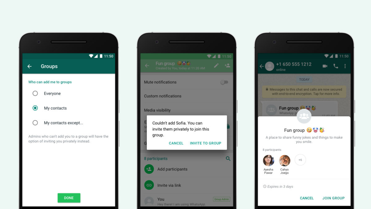 WhatsApp introduces new group chat privacy settings