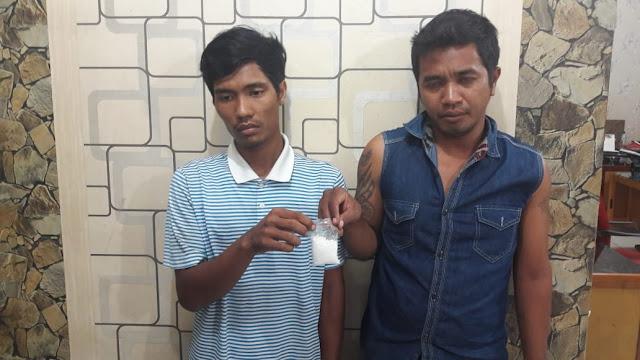 Dua tersangka pengedar narkoba di Asahan.