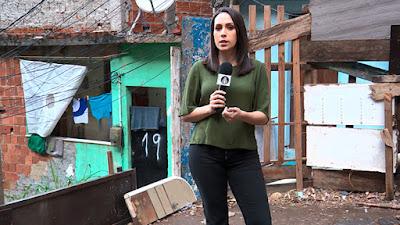 Repórter Gabriela Leite - Reprodução