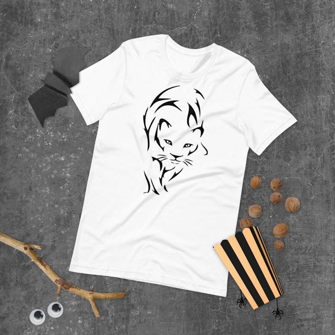 Animal Print Tshirt, Men's Shirt, Cotton T-shirt