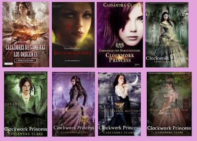 portadas de la novela de fantasía steampunk juvenil Princesa mecánica, de Cassandra Clara