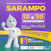 Segunda etapa da Campanha de Vacinação contra o Sarampo começa na quinta-feira (14)