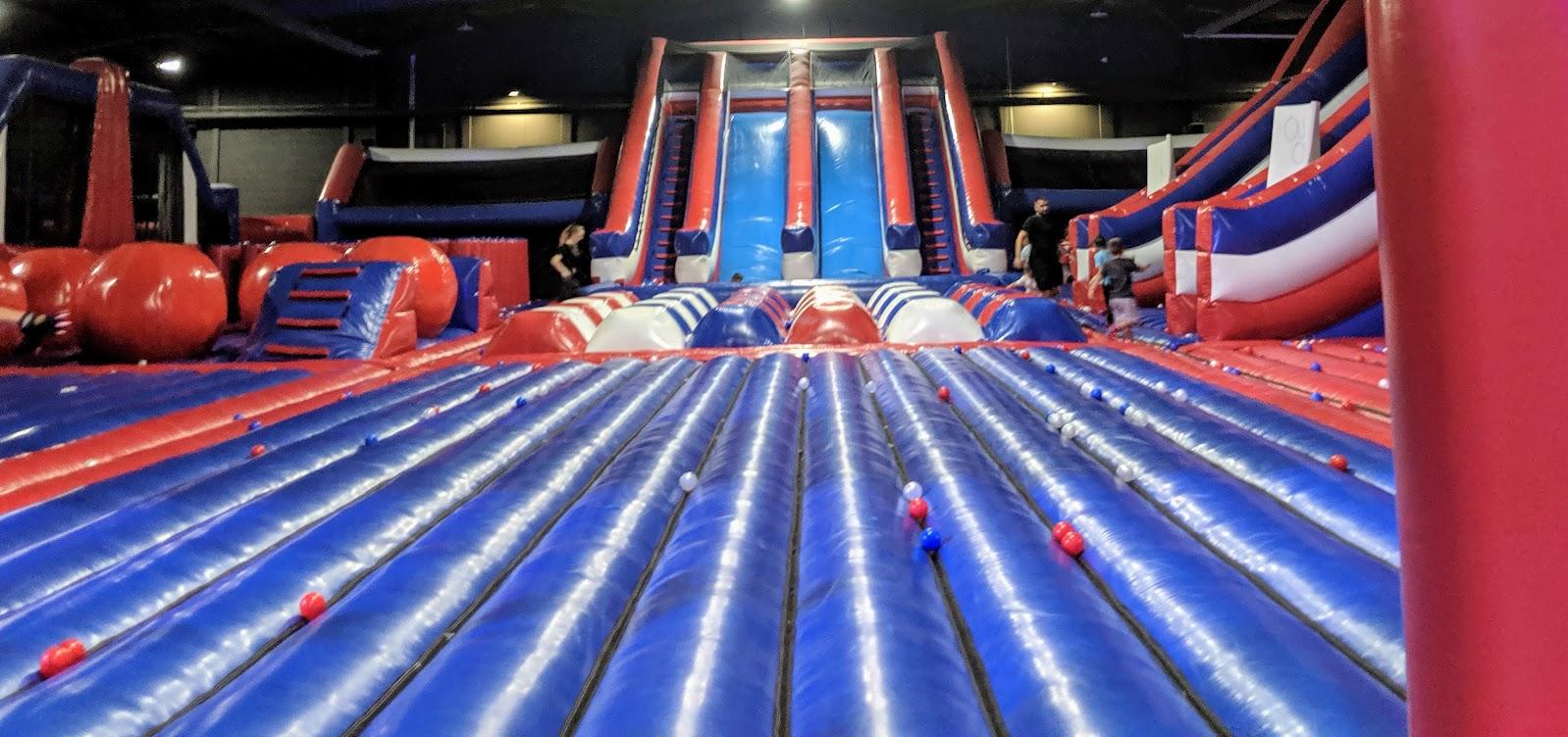 Ninja Warrior Adventure Park Wigan Review  - inflatable park