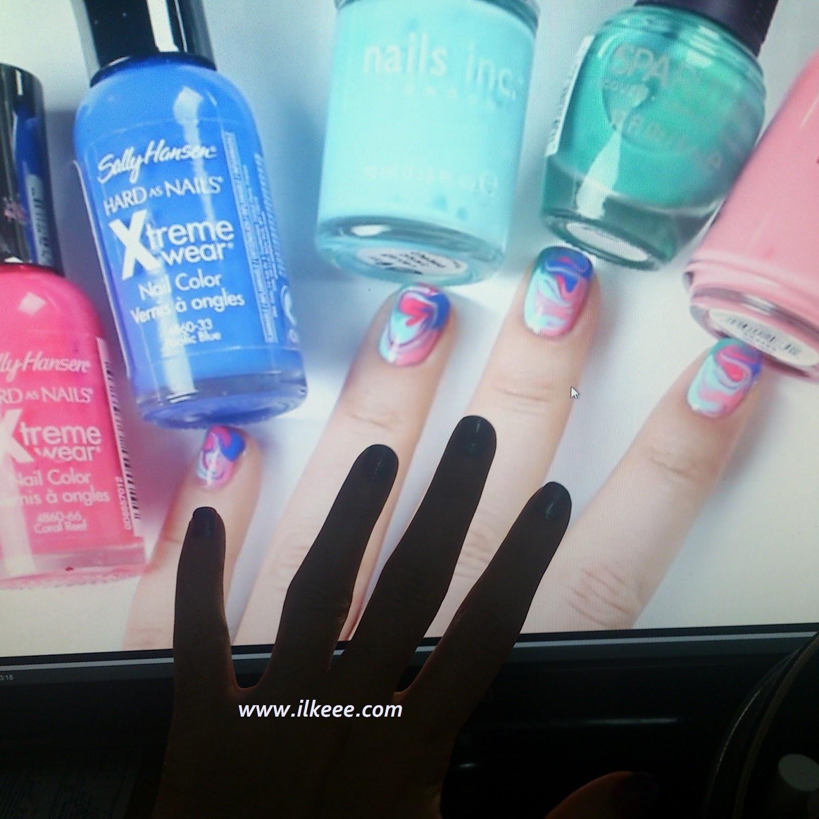 Kolay nail art çalışmaları - nailart - avon oje - flormar oje - note kozmetik oje