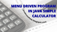 menu driven calculator