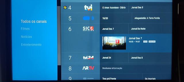 Como configurar a Live Channels em Android TV (Mi Box S)