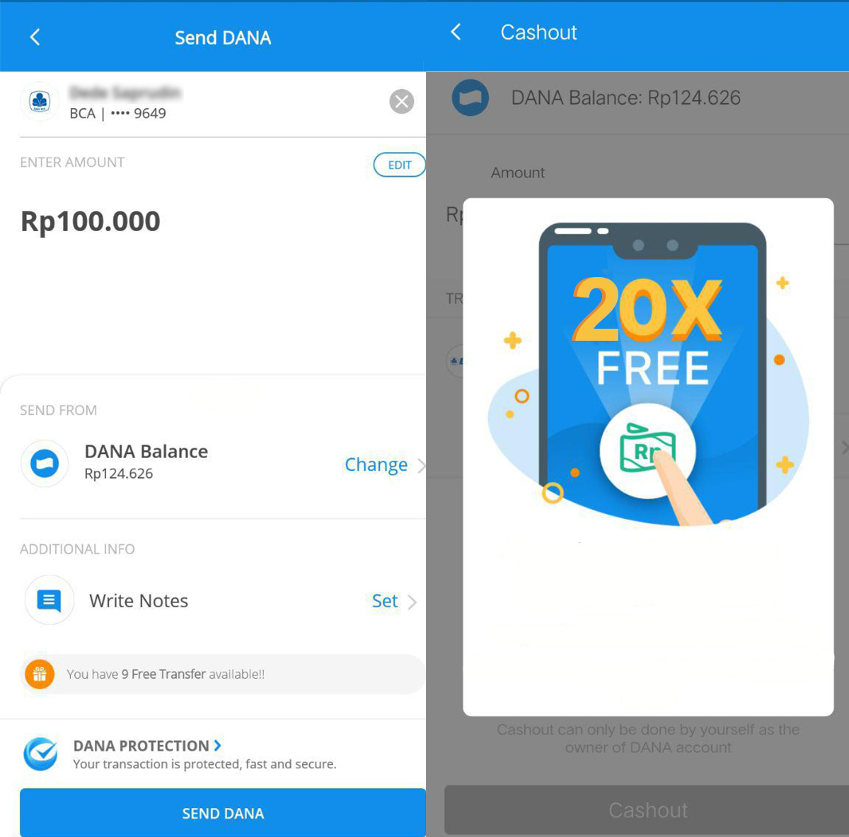 Cara Gratis Transfer Antar Bank Sampai 20x Di Aplikasi Dana Lewatonline Com